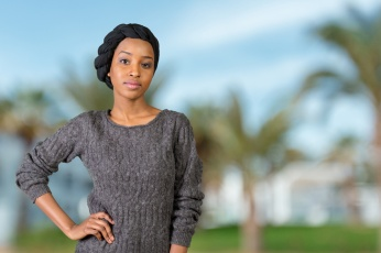 Young african american muslim woman