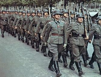 A_column_of_German_forces_in_Paris Erich Voned Deutsche Truppen in Paris